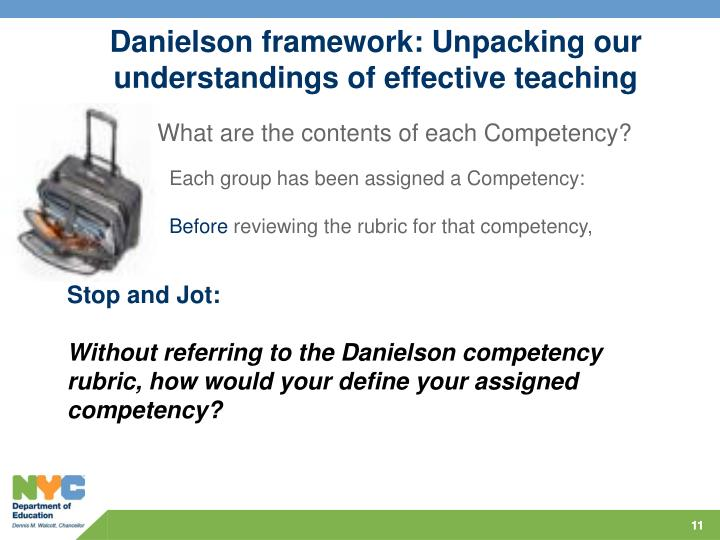 Danielson framework: Unpacking our understandings of effective teaching
