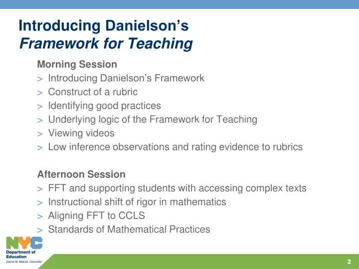 Introducing danielson s framework for teaching