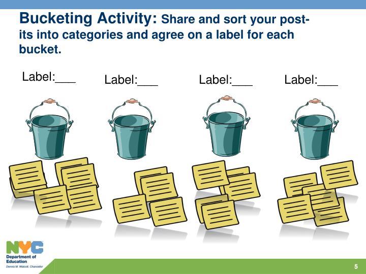 Bucketing Activity: