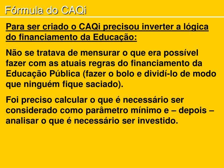 Fórmula do CAQi