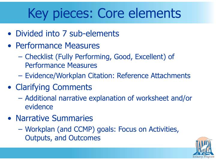 Key pieces: Core elements