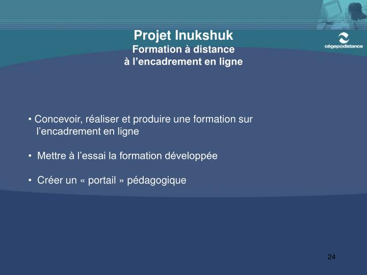 Projet Inukshuk