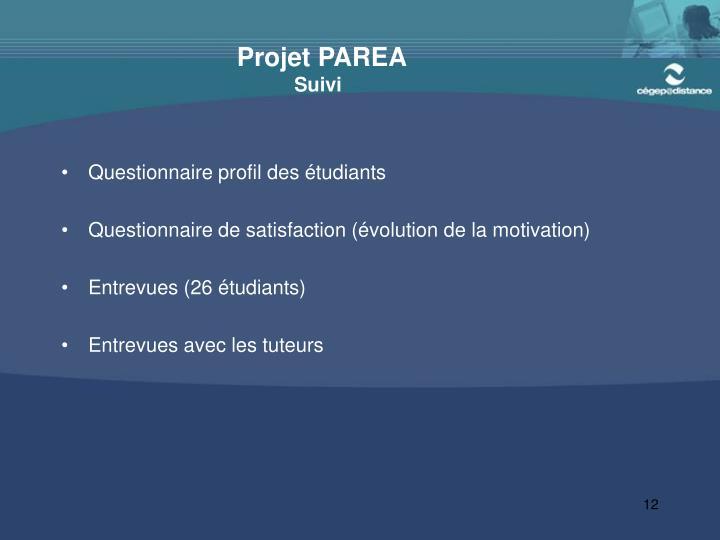 Projet PAREA