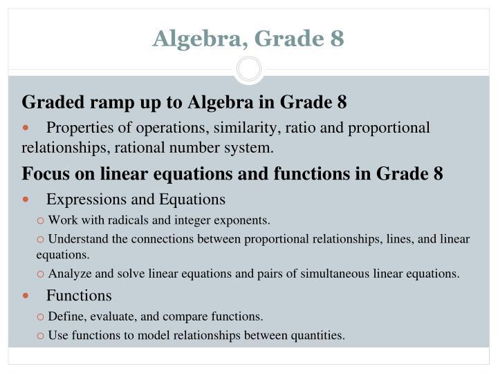 Algebra, Grade 8