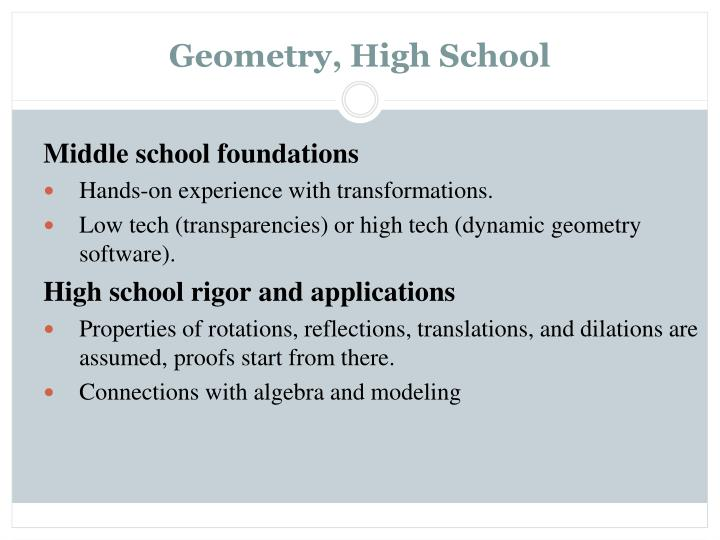 Geometry, High School