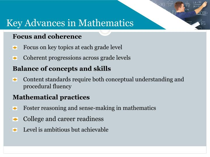 Key Advances in Mathematics