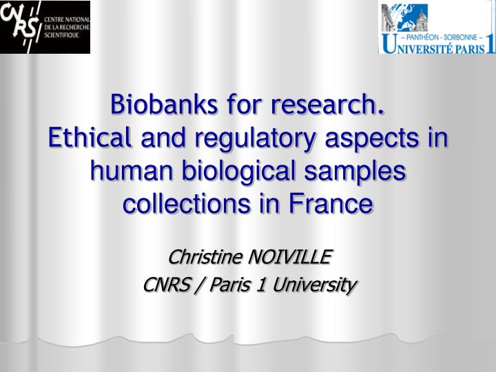 Biobanks for research.