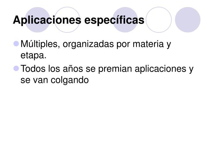Aplicaciones específicas