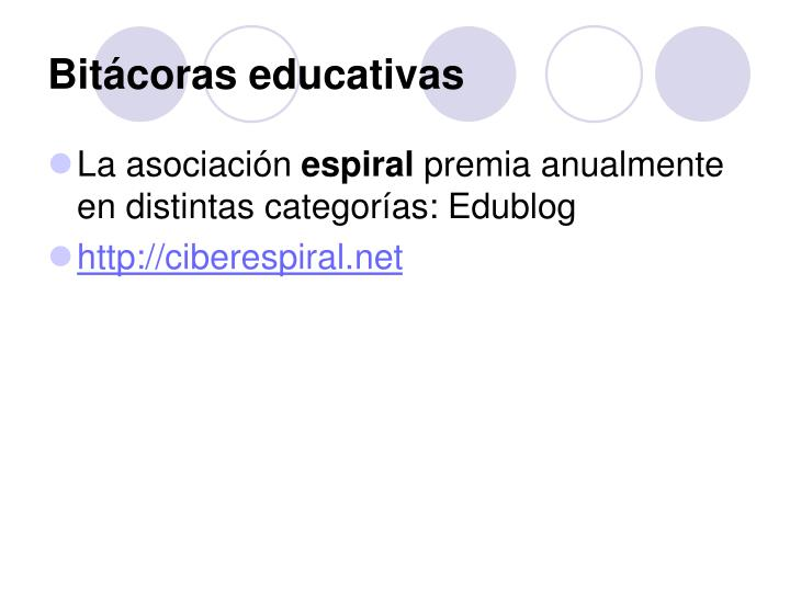 Bitácoras educativas