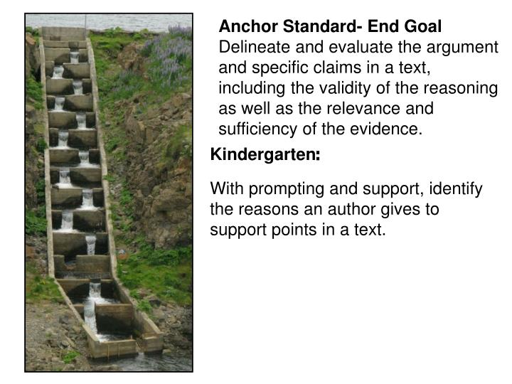 Anchor Standard- End Goal