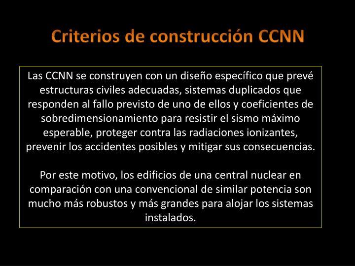 Criterios de construcción CCNN
