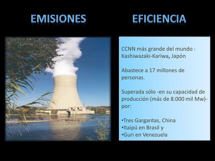 Emisiones                 eficiencia