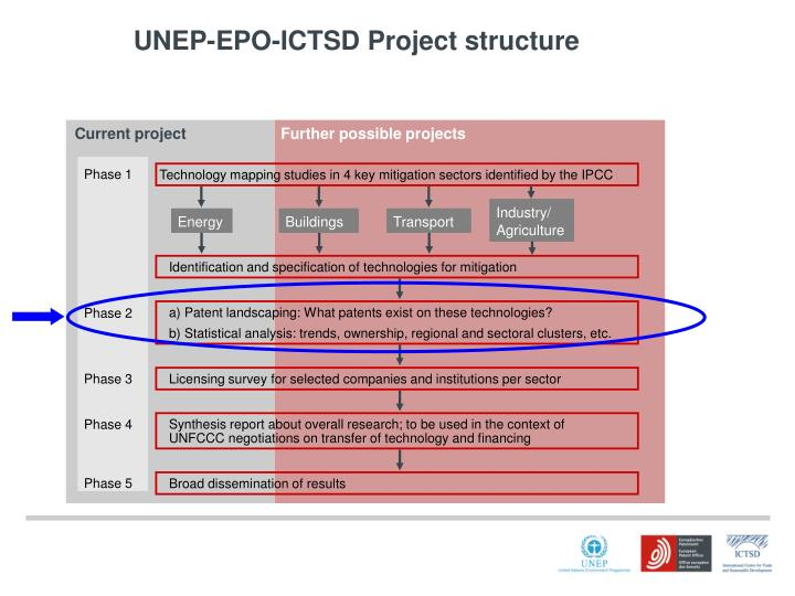 UNEP-EPO-ICTSD Project structure