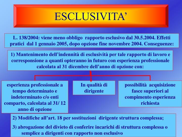 ESCLUSIVITA'