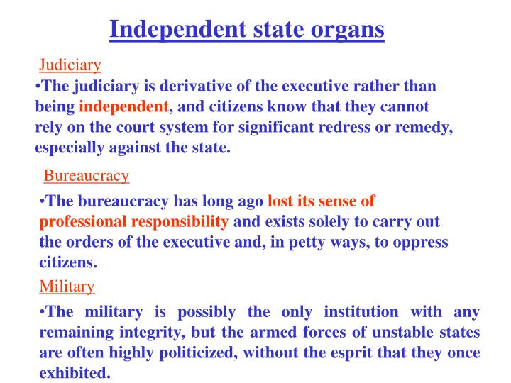 Independent state organs