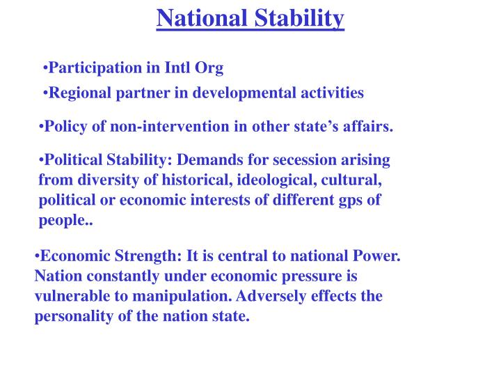 National Stability