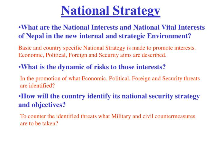 National strategy1