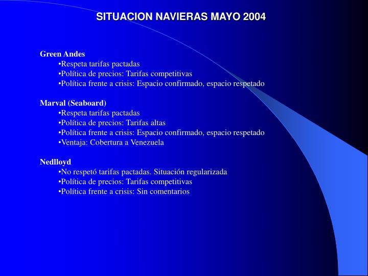 SITUACION NAVIERAS MAYO 2004