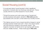 social housing cont d