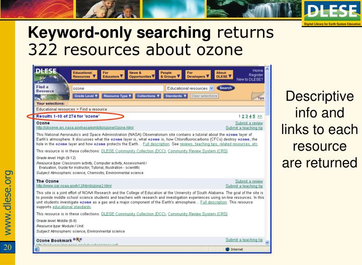 Keyword-only searching