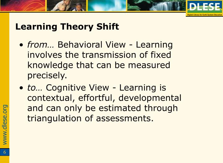 Learning Theory Shift