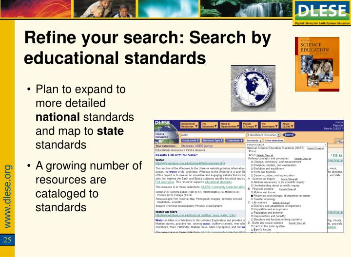 Refine your search: Search by educational standards