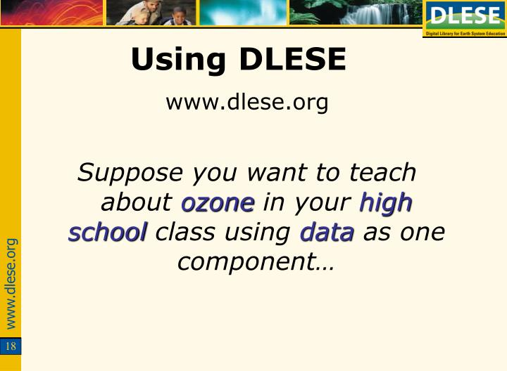 Using DLESE