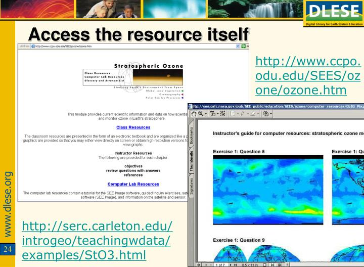 Access the resource itself
