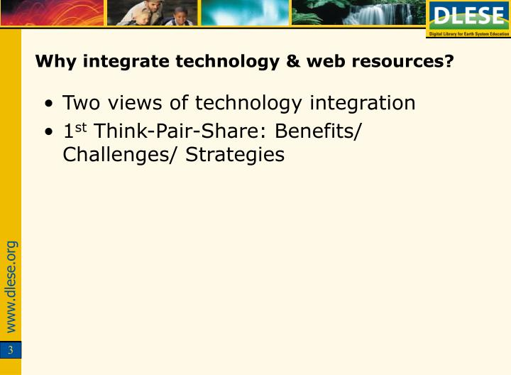 Why integrate technology web resources