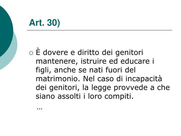 Art. 30)