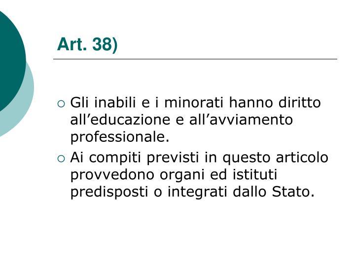 Art. 38)