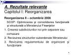 a rezultate relevante capitolul i reorganizarea1
