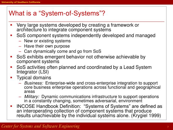 "What is a ""System-of-Systems""?"