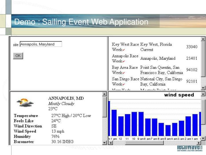 Demo : Sailing Event Web Application