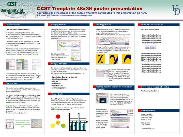 Powerpoint Poster Template 48x36