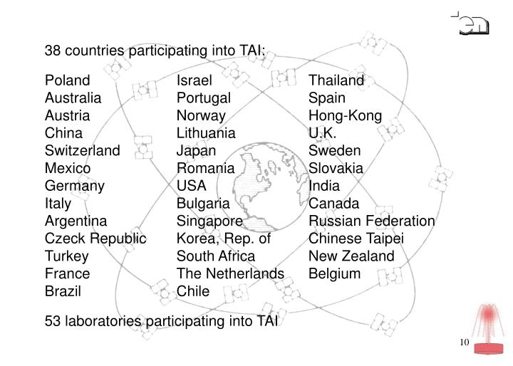 38 countries participating into TAI: