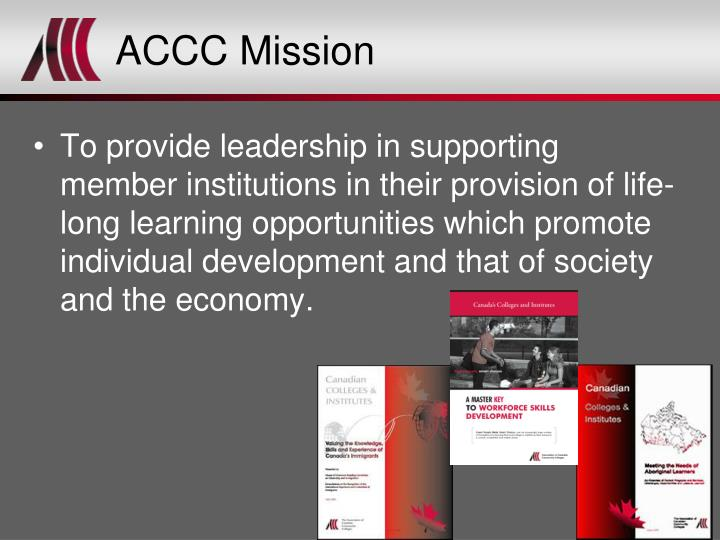 ACCC Mission
