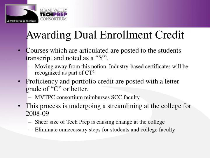 Awarding Dual Enrollment Credit