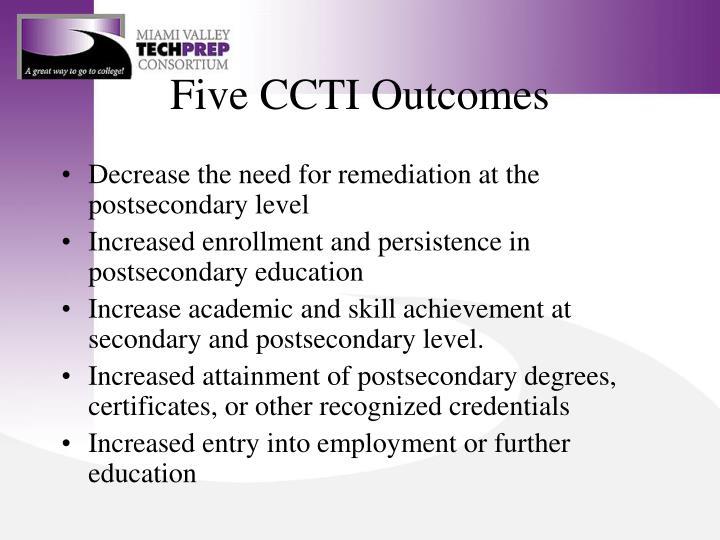 Five CCTI Outcomes