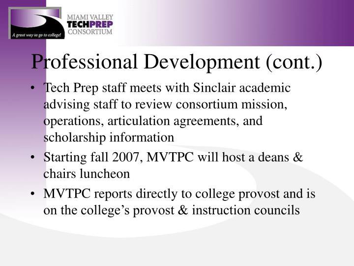 Professional Development (cont.)
