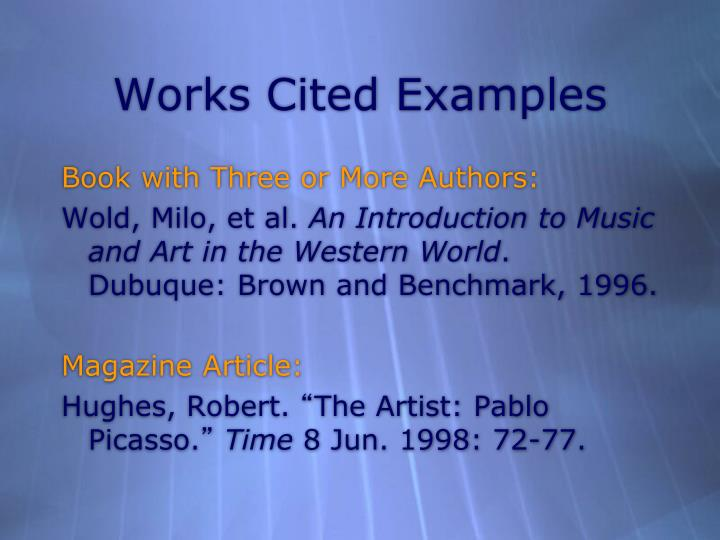 Works Cited Examples