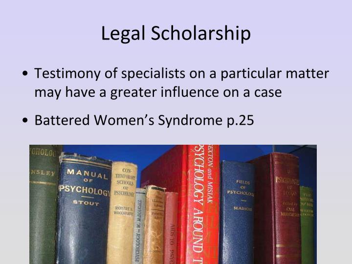 Legal Scholarship