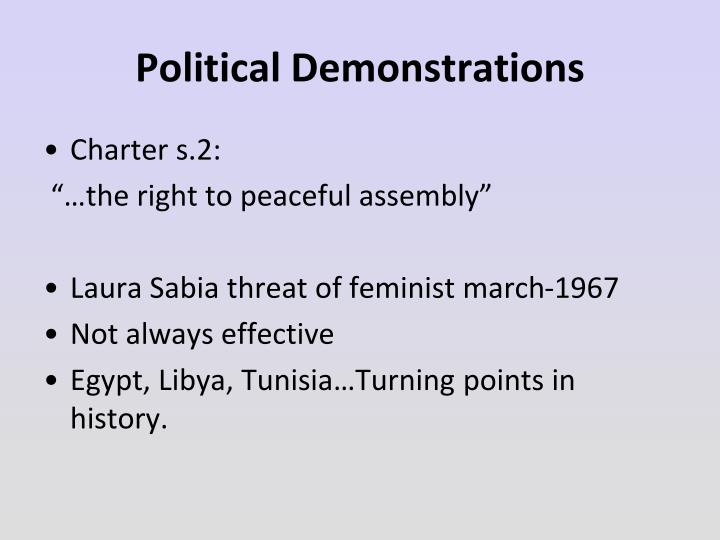 Political Demonstrations