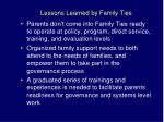 lessons learned by family ties