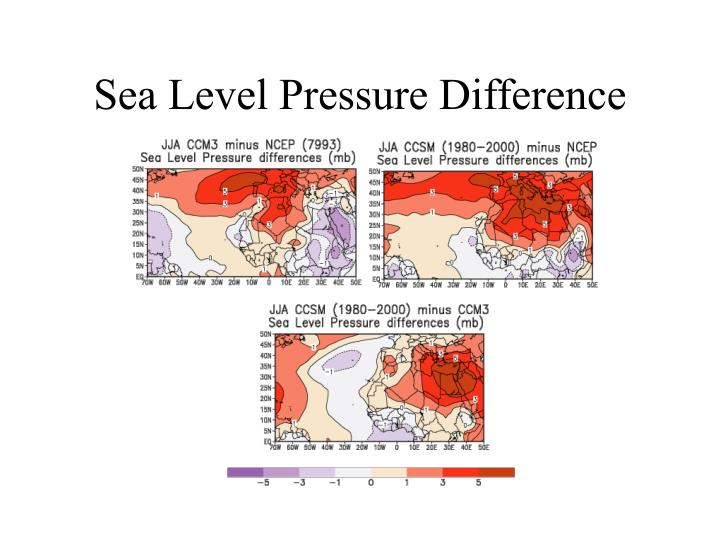 Sea Level Pressure Difference