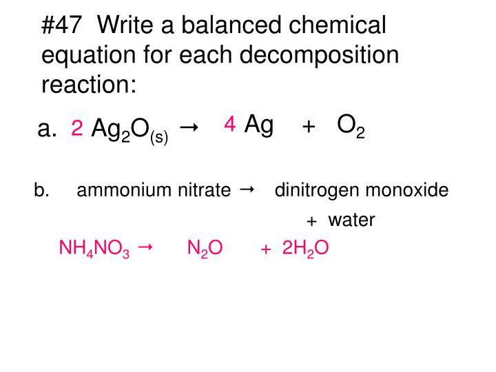 Balanced Chemical Equation For Ammonium Nitrate And Water Tessshebaylo