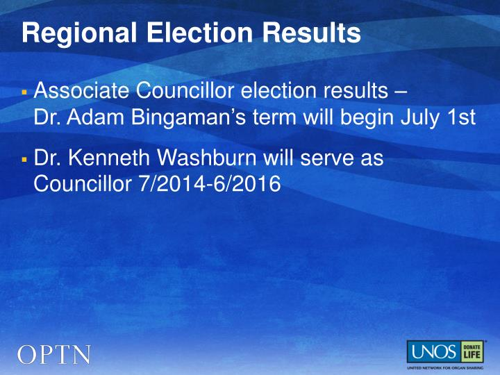 Regional Election Results