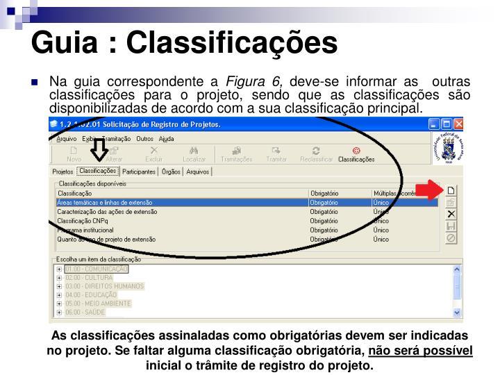 Guia : Classificações