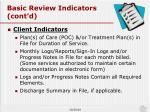 basic review indicators cont d1