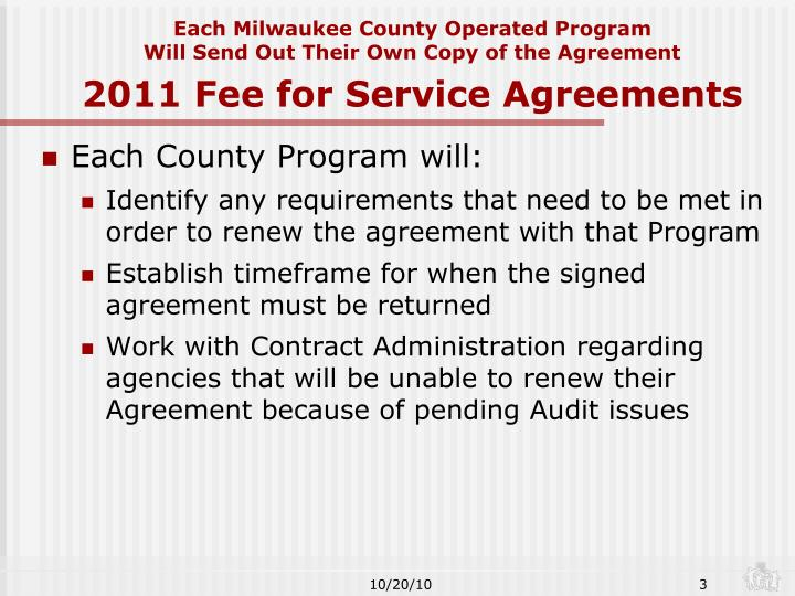 Each Milwaukee County Operated Program